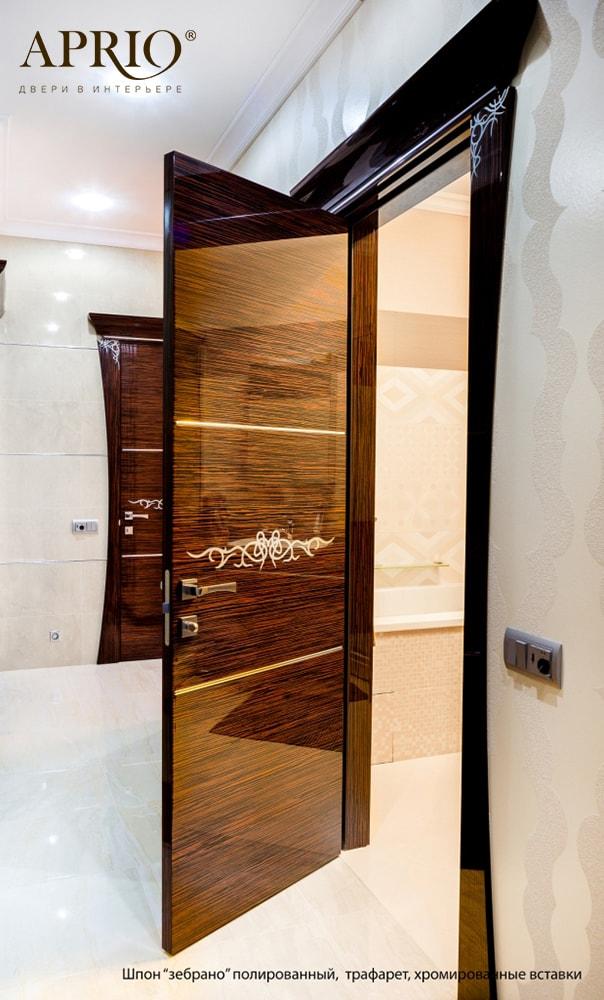 Эксклюзивные двери «Шарм», группа Luxury. Выполнены в стиле арт-деко. Отличительной чертой таких дверей является изысканный и очень запоминающийся дизайн.